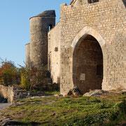 Le mur d'enceinte de la Courvertoirade