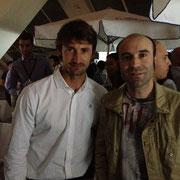 Ernesto con el tenista español Juan Carlos Ferrero. Por cortesía de Ernesto Fernández.