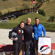 Start SM 2015: Marina, Athletiktrainer Daniel Gehri & Basil