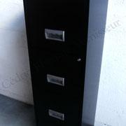 Colonne métal laquée noir