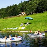 Vakantie op de boerderij Flachau - zwemvijver