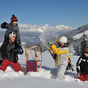 Flachau winter activities - sledding