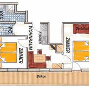 Appartement type C (4-5 personen) - Vakantie op de boerderij Flachau