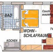 """Appartement Type A voor 2 – 4 personen """"Bauernhochzeit"""""""