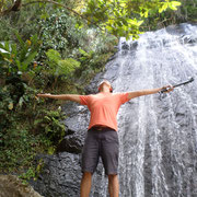 Me taking the waterfalls in! Photography by Timere Greene