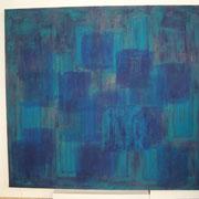 """aus der Serie """"Bachbilder"""", 120 x 130 cm, 2009/2010, Öl auf Leinwand"""