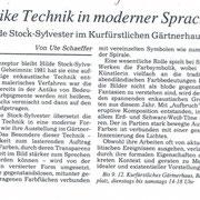 General Anzeiger, 06.12.1994 zur Einzelausstellung im Kurfürstlichen Gärtnerhaus, Bonn