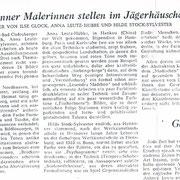 General Anzeiger 04.08.1960 zur Gruppenausstellung im Jägerhäuschen Bonn