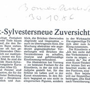 Bonner Rundschau, 30.10.1986 zur Einzelausstellung in der Galerie Karin Roger, Bonn