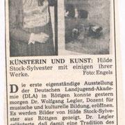 General Anzeiger, 07.01.1986. zur Einzelausstellung in der Landjugend Akademie in Bonn Roettgen