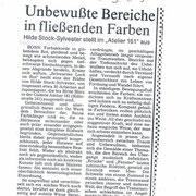 """Bonner Rundschau, 01.03.1985 zur Einzelausstellung im """"Atelier 161"""", Bonn"""