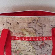 CMS, Nähguru, Handtasche, Gurtband, Weltkarte, Atlas