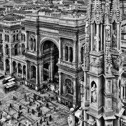 Blick vom Dom auf die Galleria Vittorio Emanuele II (Copyright Martin Schmidt)