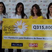 Cristina García, representante de Pollo Campero; Claudia Sandoval, representante de BAM; Isabel Tejada, Presidenta de Fundación Margarita Tejada y  Viviana Luna, representante de San Martín.
