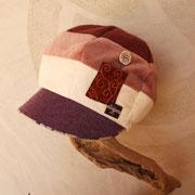 淡いピンク~紫グラデーションキャスケット Lサイズ