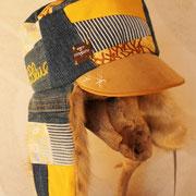 黄色×デニムの元気でかっこいいkepi