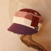 淡いピンク~紫グラデーションキャスケット Sサイズ