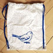 Rucksack Sternchen mit Vogel dunkelblau