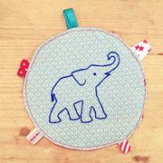 Elefant (gezeichnet) blau