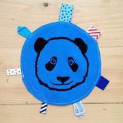Panda schwarz auf blau