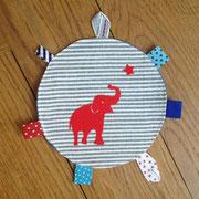 Elefant und Stern rot