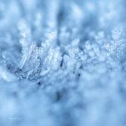 ijskristallen uitvergroot