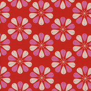 Retro Flowers red