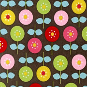Circle Flowers brown