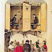 Werbeplakat für eine öffentliche Séance der Davenport Brüder (Public Domain). #Kabinett #Medium #Spiritismus #paranormal