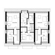 Reihenhaus Grundriss Dachgeschoss