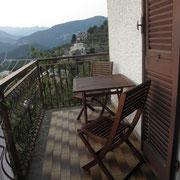 Il terrazzino privato della camera