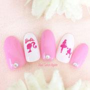 バービーネイル/Barbie Nail/マルチピンクネイル/キャラクターネイル板橋
