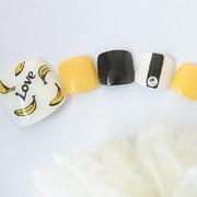 フットネイル板橋◆バナナネイル/フルーツネイル