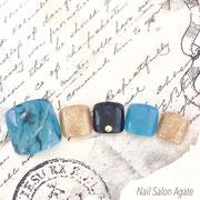 フットネイル板橋◆大理石ネイル/天然石ネイル/ターコイズネイル/夏ネイル