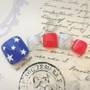 フットネイル板橋◆アメリカンネイル/アメカジネイル/星条旗ネイル/カジュアルネイル