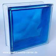 BRILLY Blue 1919/8 Wave Glasbaustein Glass Blocks Glasstein Glasbausteine-center glasbausteine-center.de Glasbausteine Glassteine  BASIC gler blokkir Glazen bouwstenen Glas Stegels Glasdallen Glazen blokken Glasbaksteen Glas Blokke Glastegel Blau