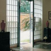 Entree, Eingang, Türen - GLASBAUSTEINE - GLASS BLOCKS - GLASSTEINE - BLOCOS DE VIDRO - BLOQUES DE VIDRIO – BRIQUES DE VERRE  - GLAZENSTENEN - GLASBLOKKEN - GLASDALLEN