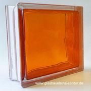 BRILLY Orange 1919/8 Wave Glasbaustein Glass Blocks Glasstein Glasbausteine-center glasbausteine-center.de Glasbausteine Glassteine  BASIC Briques de verre Bloques de vidrio Blocos de vidro Glasblokke glass blokker Lasitiilet Glasblock Lasi Tiili gler blo
