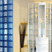 Bad Duschwände - GLASBAUSTEINE - GLASS BLOCKS - GLASSTEINE - BLOCOS DE VIDRO - BLOQUES DE VIDRIO – BRIQUES DE VERRE  - GLAZENSTENEN - GLASBLOKKEN - GLASDALLEN