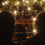 Licht-Klang Objekt im klang raum garten