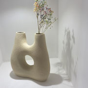 Aude Bray-Deperne - Maternité, Issue de la Collection II Sculpture en grès  chamotté blanc, façonné à la main, 33x22cm, Galerie d 'Art, Côte d'Azur, South of France, Biot.