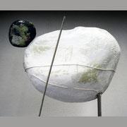 """Инсталляция """"Живые камни"""", папье-маше, акрил, 2010"""