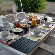 Petit-déjeuner aux chambres d'hôtes les Lavandes à Rocamadour