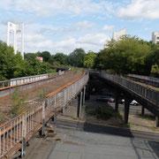 Blick vom Bahnsteig auf den Viadukt Richtung Siemensstadt           ©Michael Hertel 2019