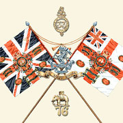 Colours and badges.  Commissioned by The Duke of Wellington's Regiment.