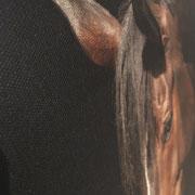 Detail Leinenstruktur mit Glanzveredlung