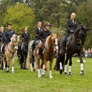 Die 18 Reiter und Reiterinnen...
