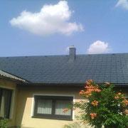 NACHHER: neues Prefadach auf bestehende Eternitplatten