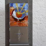 bullseye Glas/Chicago, Uroborus Glas Portland, Milchglas weiß, Lechsteine