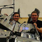 Unsere Techniker - Mathias Hoffmann & Markus Gehrlein (Gehrlein Veranstaltungstechnik / www. gehrlein-veranstaltungstechnik.de)